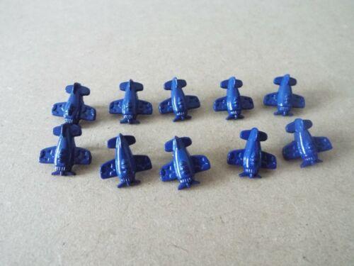 10 X Lindo Bebé Real Azul Oscuro avión avión Novedad Caña Botones 15mm F18