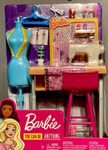Barbie You Can Be Anything Fashion Designer Studio Sewing Machine Playset Nib 887961696967 Ebay