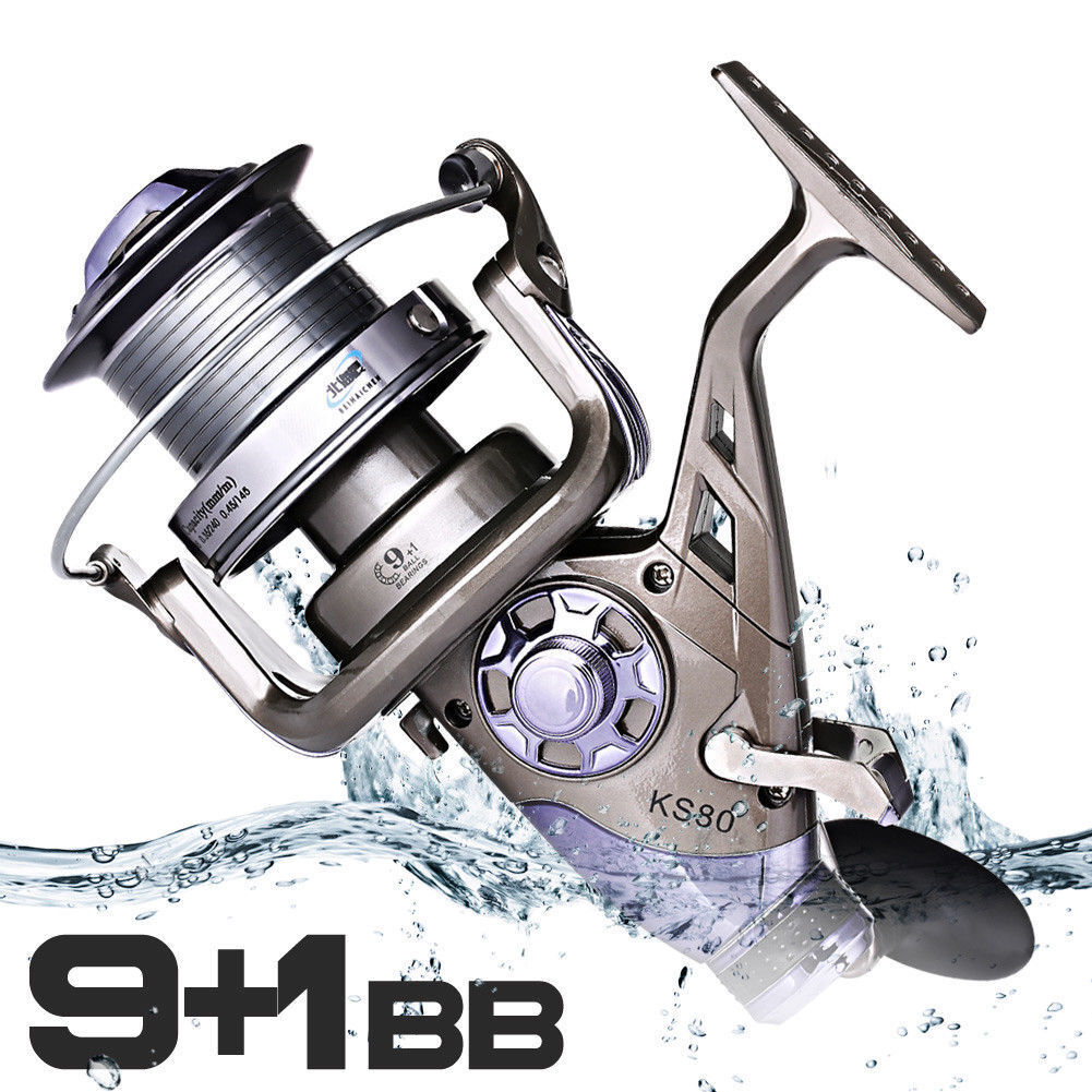Spinning Casting Fishing Reel Metal Head Left Right He KS70 80 9+1BB 4.1 1