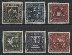 "Österreich 1926 1.Rep.;(MV2039) Satz ""Nibelungensaga"" ANK 488-493**"