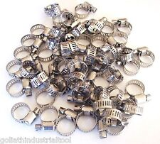 """50 GOLIATH INDUSTRIAL STAINLESS STEEL HOSE CLAMPS 1/4"""" - 1/2"""" SSHC12 8MM-12MM"""