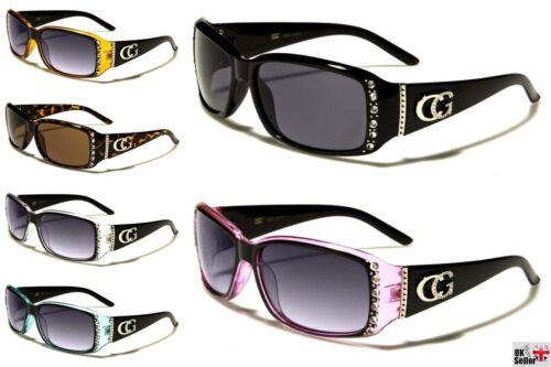 Designer CG Diamante Rhinestone Sunglasses UV400 Vintage