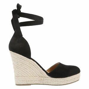 8cbd92d5474 Brash Women's Escape Black Espadrille Wedge Heel Shoes Sandal Size ...