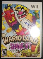 Wii Wario Land: Shake It (new Sealed)