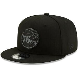 Philadelphia-76ers-New-Era-Texture-9FIFTY-Snapback-Hat-Black