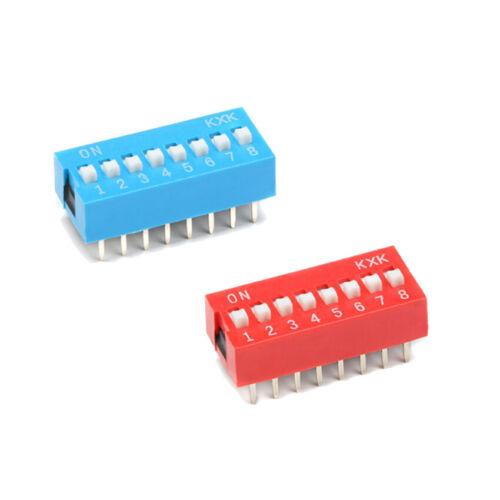 Schiebeschalter Slide DIP Schalter Module 1 2 3 4 5 6 8 PIN 2.54mm SPST Blue Red