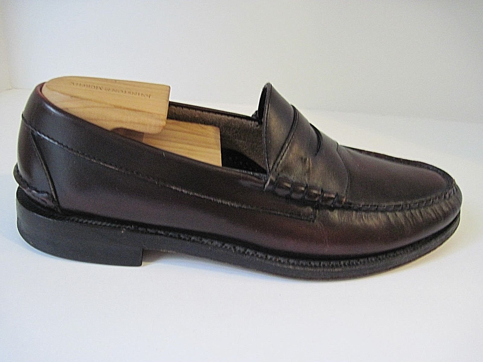 Johnston & Murphy Aristocraft cordovan leather penny loafers size 9 1/2 C