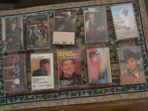 Lot-of-10-Different-Country-Music-Cassette-Tapes-George-Strait-Willie-Nelson
