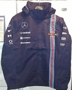 Williams-Martini-Mercedes-Racing-Womens-Hooded-Waterproof-Jacket-X-Small-NWT