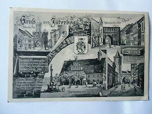 Ansichtskarte-Jueterbog-1917-Feldpost-mehrere-Ansichten