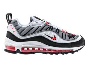 Women s Nike Air Max 98 SOLAR RED WHITE GUNDAM BLACK AH6799-104 sz ... 92afeb226