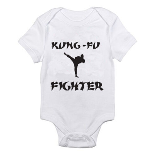 KUNG FU FIGHTER Karate Sports Martial Arts Humorous Baby Grow Suit
