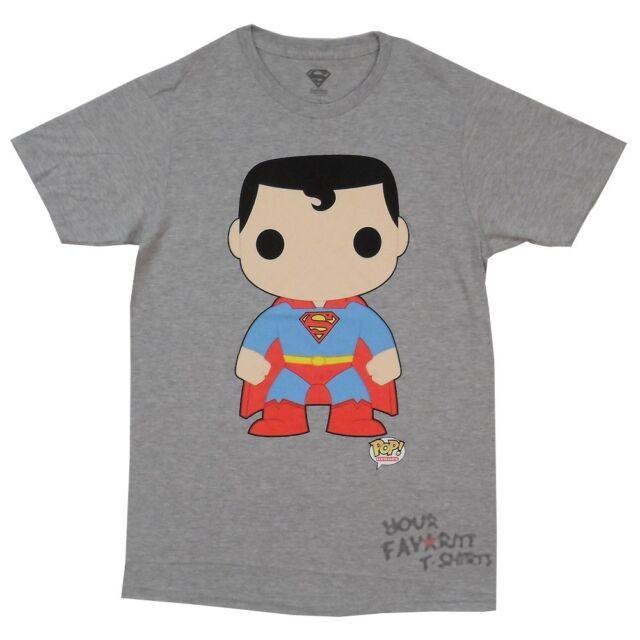 Superman Funko Pop Licensed DC Comics Adult Shirt S-2XL