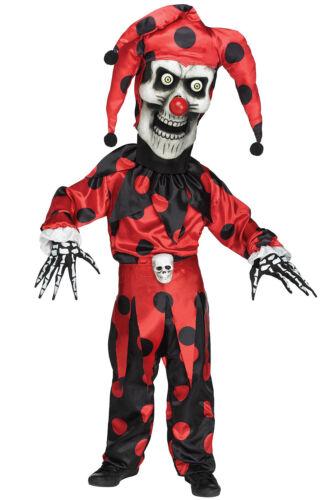 Brand New Bobble Head Evil Jester Clown Child Costume