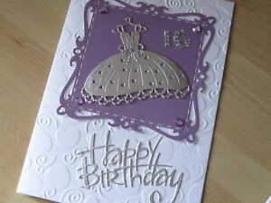 Handmade personalised 16th birthday card sister daughterniece image is loading handmade personalised 16th birthday card sister daughter niece bookmarktalkfo Gallery