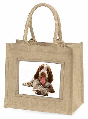 Italian Spinone Hund große natürliche jute-einkaufstasche Weihnachtsgeschenk