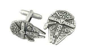 Star-Wars-Millennium-Falcon-Fashion-Novelty-Cuff-Links-Movie-with-Gift-Box