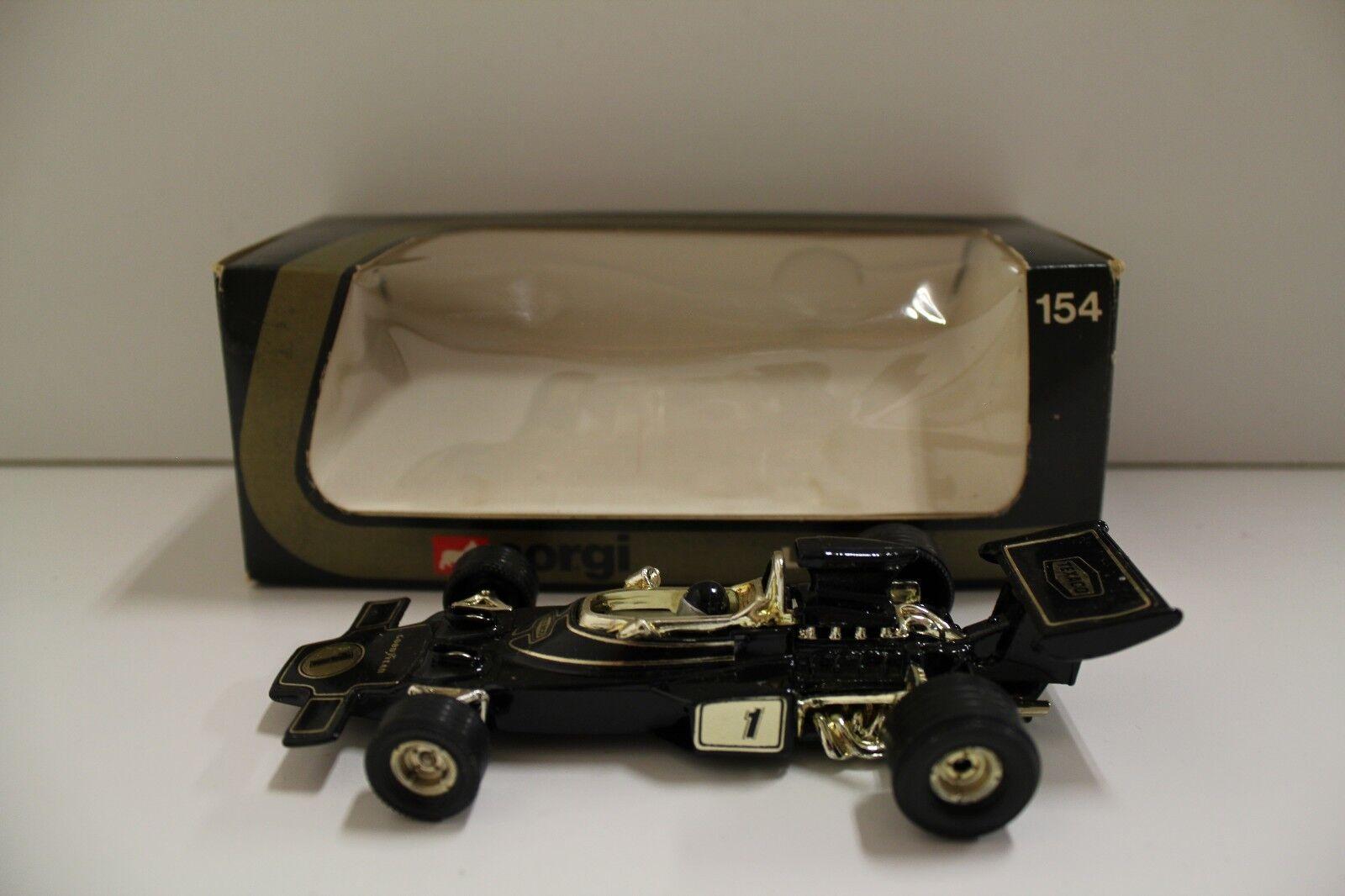 CORGI NO  154  Texaco LOTUS F 1 auto da corsa  - NERO (ORIGINALE 1978 Boxed)