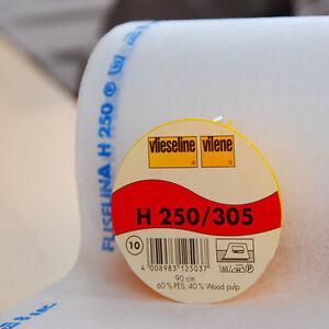 25m Rolle Freudenberg H250 weiß 90cm Vlieseline Vilene Bügeleinlage Vlieseinlage