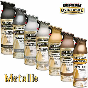 Rust oleum metallic spray paint brass copper gold silver bronze steel nickel ebay Black metal spray paint