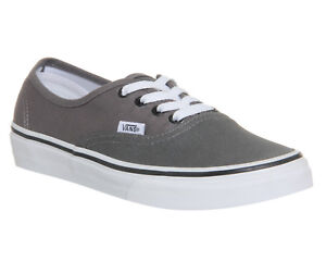 Vans Authentic Pewter Black Grey Mens Unisex New Plimsolls Shoes ... cfa3323d0