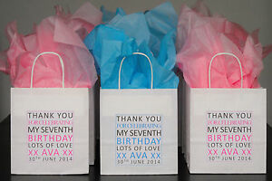 Image Is Loading Personalised Children 039 S Party Bags Thank You