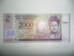 Amical Banconota 2000 Guaranies Paraguay 2009 Fds Polimero Pour Revigorer Efficacement La Santé