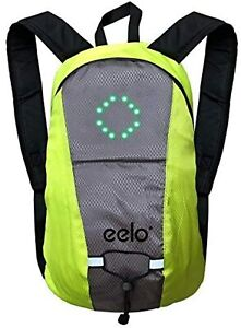 eelo Waterproof Cycling Shoulder Backpack W/ LED Light and USB Adapter for Bike