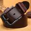 Homme-Ceinture-en-cuir-veritable-ceinture-bracelet-retro-noir-Pin-Boucle-Decontracte-Jeans-Ceinture miniature 10