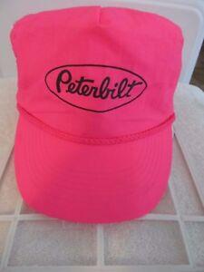 2423dc0fc96 Otto Cap Peterbilt Bright Hot Pink Adj Trucker Adjustable Ball Cap ...