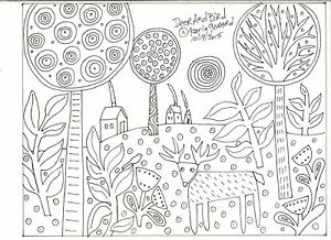 RUG-HOOK-CRAFT-PAPER-PATTERN-Deer-And-Bird-FOLK-ART-PRIMITIVE-Karla-Gerard