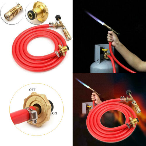 Gas Self Ignition Plumbing Turbo Torch With Hose Solder Propane Welding Kit Tool
