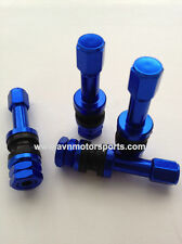 4 NEW LIGHT WEIGHT BLUE ALUMINUM VALVE STEMS CAP KIT