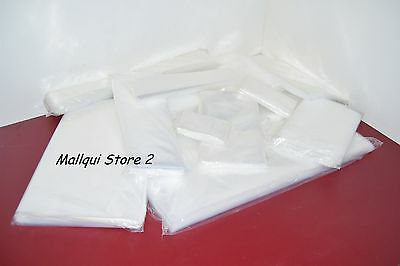 300 CLEAR 10 x 24 POLY BAGS 2 MIL PLASTIC FLAT OPEN TOP