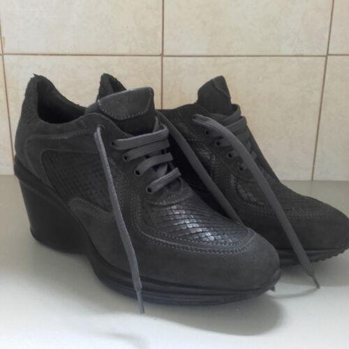 Lavorazione E Pitone A In Scamosciata Scarpe N Pelle Frau Grigia 37 Sneakers 6HxYOawqx