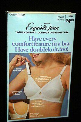 40D VTG 70s NOS CONTOUR Nylon Knit Bra X-tra Comfort Exquisite Form P3609 1970s