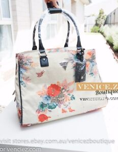 BNWT-RRP-219-GUESS-FENNER-Travel-Tote-Lugguage-Bag-Creme-Fabric
