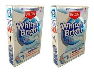IndéPendant 2 X Dylon Blanc N Bright 7 Feuilles Lessive Lumineux Blancs Vêtements Nettoyage-afficher Le Titre D'origine Bon Pour AntipyréTique Et Sucette De La Gorge