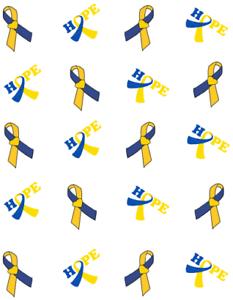 Down S Syndrome Awareness Ribbon Waterslide Nail Decals Nail Art Ebay