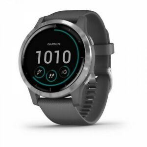 Garmin vivoactive 4 Shadow Gray and Silver GPS Smartwatch 010-02174-01