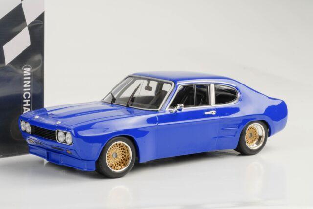 1970 Ford Capri Mki Rs 2600 RS2600 Plainbody Azul 1:18 Minichamps Diecast