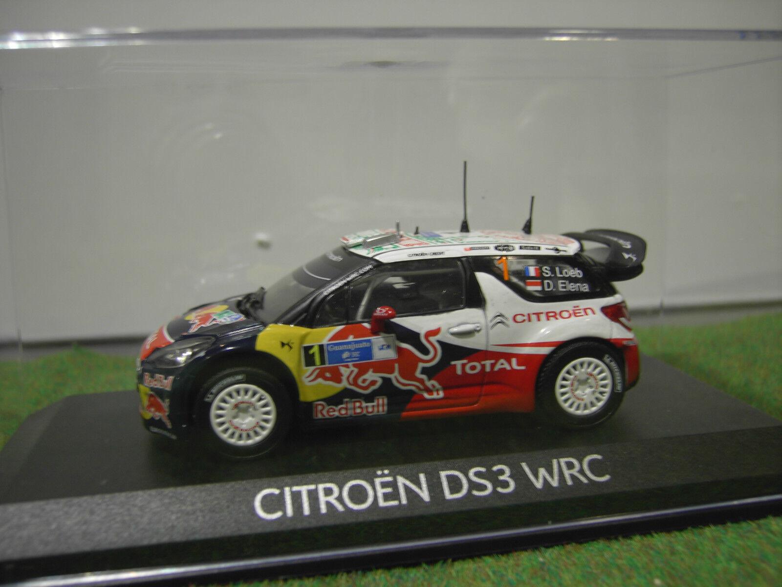 punto de venta CITROËN DS3 WRC RALLYE Mexique Mexique Mexique 2011 LOEB au 1 43 voiture miniature NOREV 155351  ventas en linea
