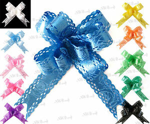 10-x-SMALL-BEAUTIFUL-PULL-BOWS-WITH-PERFORATED-EDGES-WEDDING-PARTY-GIFTWRAP