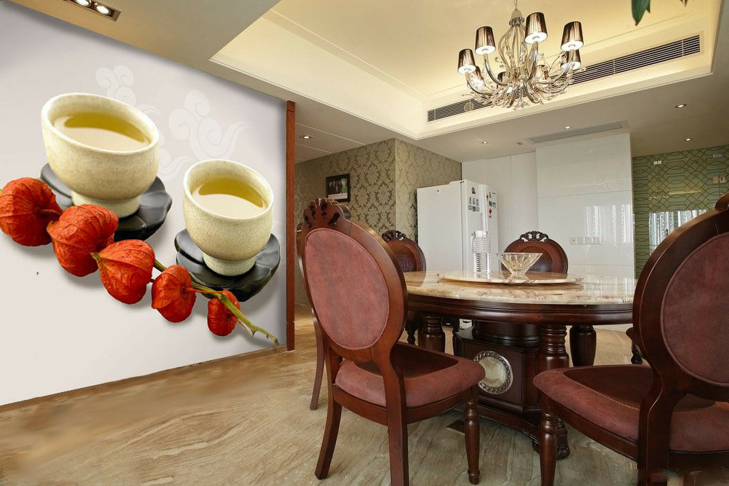 3D Tea Culture 754 Wall Paper Murals Wall Print Wall Wallpaper Mural AU Summer