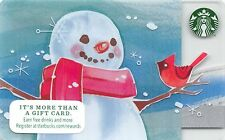 Starbucks Snowman and Cardinal Gift Card Collectible New NV - Pin Covered