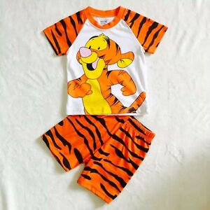 2pcs Boys Kids Toddler T shirt and Pants Outfits Pajamas Clothing sets Tiger