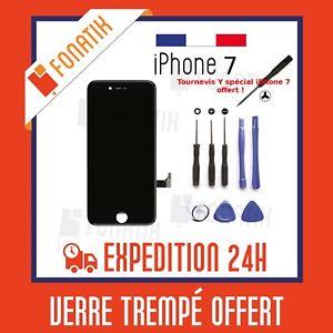 ECRAN-LCD-POUR-IPHONE-7-NOIR-VITRE-TACTILE-SUR-CHASSIS-KIT-OUTILS-OFFERT