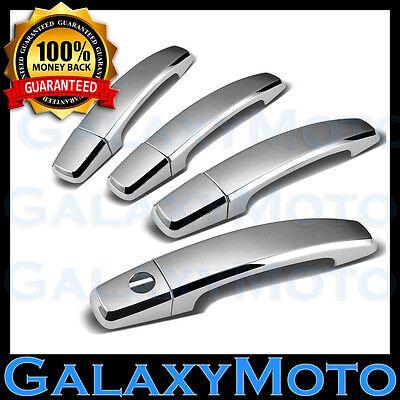 02-06 Chevy Avalanche Triple Chrome 4 Door Handle+w//o PSG Keyhole Cover Kit Set