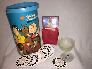 Vintage-Working-Talking-GAF-Talking-View-Master-Gift-Pak-3-with-40-Reels-in-box