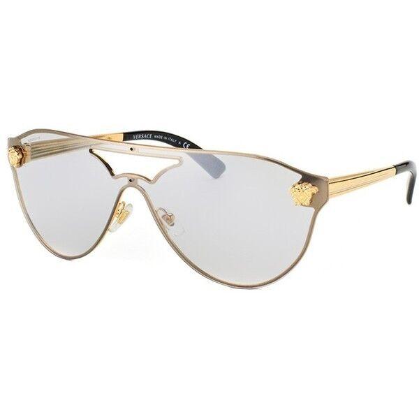 21bd90b8b546 ... Versace Sunglasses Ve 2161 10026g Gold Light Grey Silver Mirrored